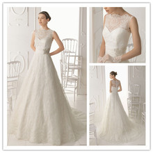 2015 Zipper Real Western High Neck See Through Lace Princess Wedding Dresses With Sleeves Women Bride Dress Vestidos De Noiva(China (Mainland))