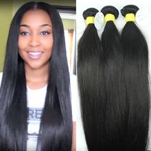 Brazilian virgin hair straight 3pcs Lot FS hair products 100% unprocessed virgin human hair weave Brazilian straight hair(China (Mainland))