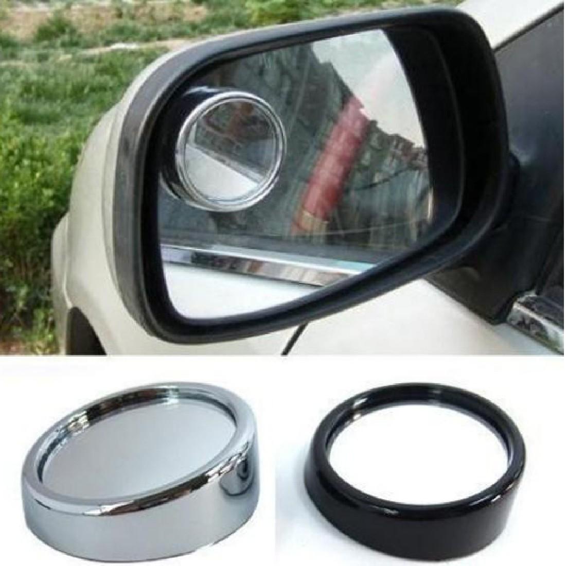 Горячая распродажа новый зеркало заднего вида выпуклый круг слепое пятно за машину , чтобы увидеть серебро