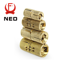 Brand NED 4PCS 16mm Copper Barrel Hinges Cylindrical  Hidden Cabinet Concealed Invisible Brass Hinges For Door Cabinet Etc(China (Mainland))