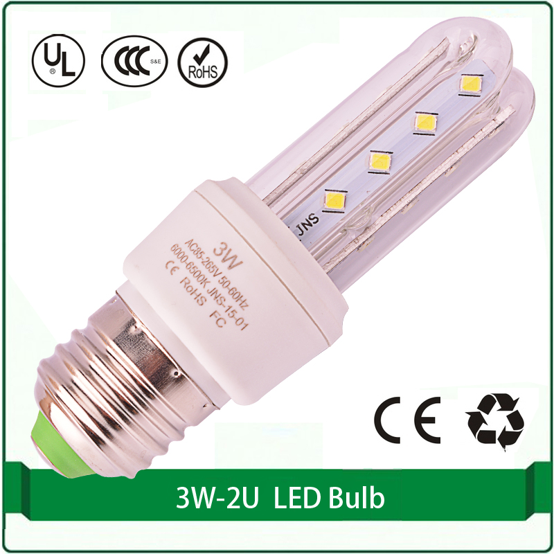 2U energy saving bulb 3W 2835 E27 led corn light lamp led bulb light e27(China (Mainland))