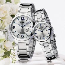 Brand EYKI Watches Stainless Steel Couple Watches Luxury Quartz Women / Men Wristwatches Drop Shipping 8529-1(China (Mainland))