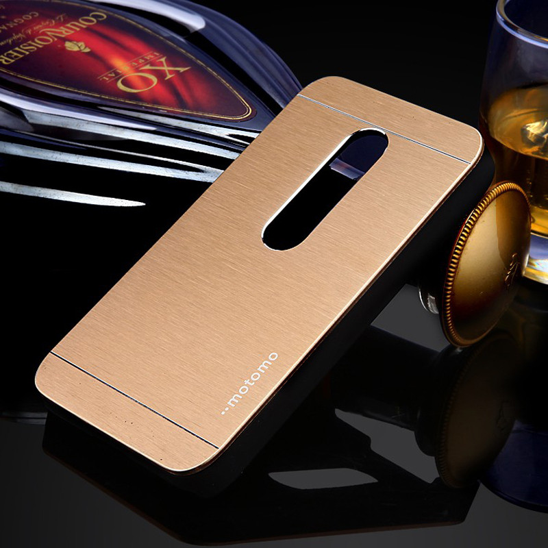 Motomo brushed metal phone case for moto G G2 G3 E aluminum hybrid plastic 2 in 1 hard tough armor protective back covers bags(China (Mainland))