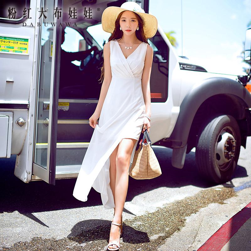 Summer dress Dress Pink Doll 2015 new dress V slim slim chiffon  split collarОдежда и ак�е��уары<br><br><br>Aliexpress