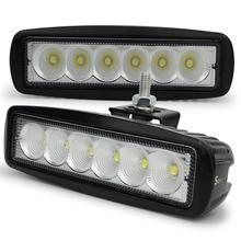 2pcs Free Shipping DRL18W MINI LED Light Bar for offroad truck tractor CREE LED Work Light SUV ATV 4X4 LED Driving Light(China (Mainland))