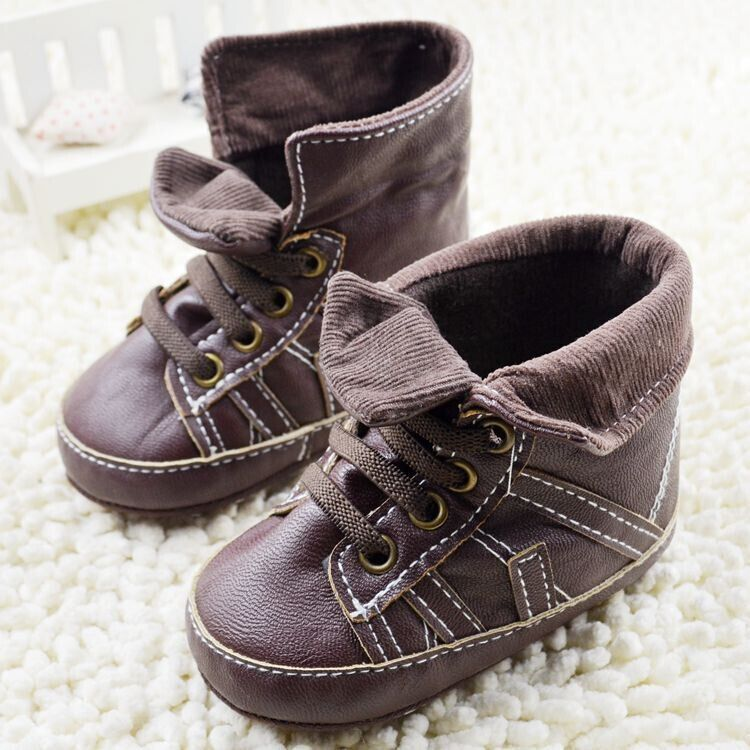 Aliexpress Buy 2015 Baby shoes leather high top baby