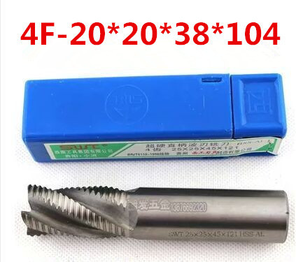 4flute M2AI dia 20mm end mills milling cutter machine tool Roughing cutter CNC tools Super-hard high speed steel 4F-20*20*38*104(China (Mainland))