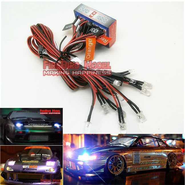 The Stunning linkage LED lights For  Rc car, Supply power by the remote receiver<br><br>Aliexpress