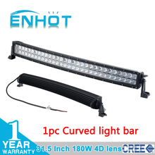 4D lens CREE 31.5 INCH 180W LED LIGHT BAR SPOT HIGH BEAM LED DRIVING LIGHT FOR OFFROAD ATV 4x4 TRUCK SAVED ON 240W/300W(China (Mainland))