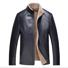 Men jacket Genuine Leather Coat Sheepskin Wool inner thick warm New fashion casual 15561 High quality clothing Free shipping(China (Mainland))