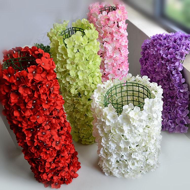 Flower Walls Artificial Silk Hydrangea Flower Wall For Wedding