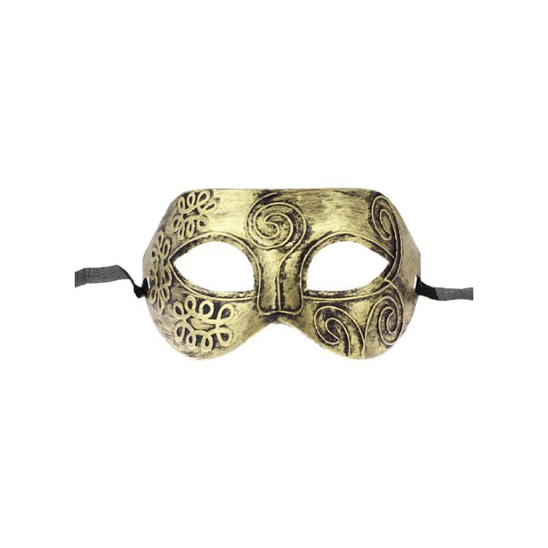 PHFU wholesale 5PCS Wholesale Gold Tone Roman Greek Mens Venetian Halloween Costume Party Masquerade Mask(China (Mainland))