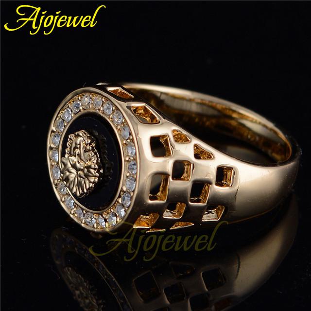 Уникальные модные стразы Американский кольцо мужчина 2016 черный позолота мужской ...
