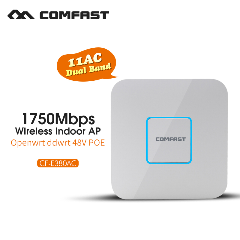 Wireless Indoor Ap Comfast 1750Mbps Wifi Signal Amplifier Repeater Dual band 802.11 AC Gigabit Router Wi fi 48V POE Access Point(China (Mainland))