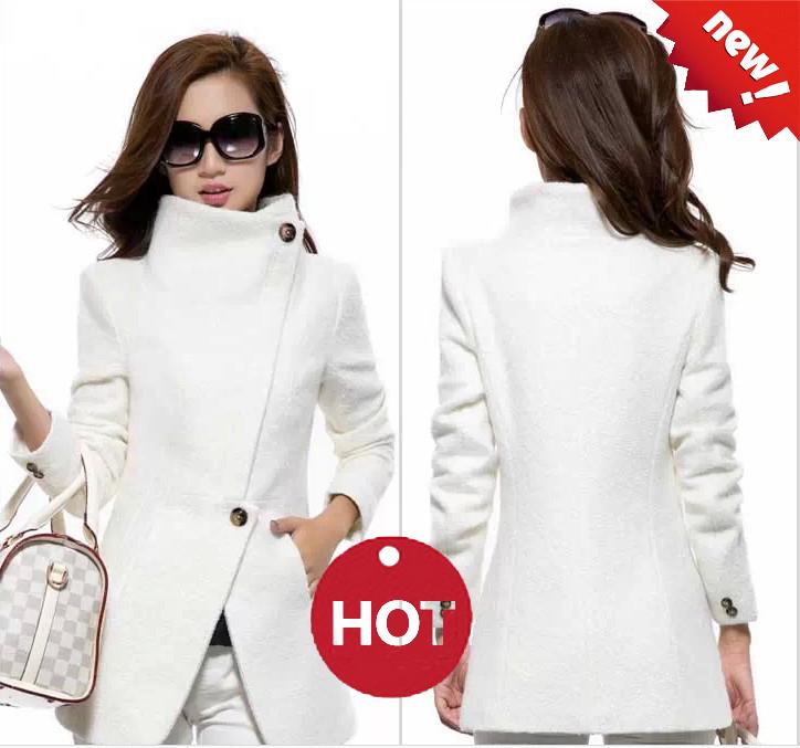 Ladies White Wool Coat