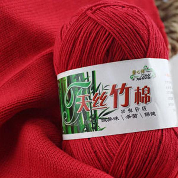 New 8colors Soft Bamboo Crochet Cotton 50g Knitting Yarn Baby Knit Wool Yarn ...