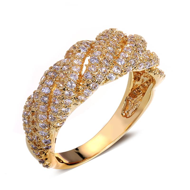 Christmas season best jewelry for women 2014 brief women's ring 18k gold ring rope shape best birthday gift()