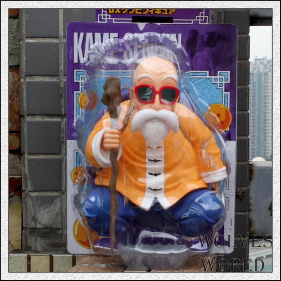 Фотография 2pcs/set Dragonball Z Son Master Roshi+GOKU Super Saiyan Turtle fairy  Action Figures Super Saiyan Son Crystal Balls PVC 23cm