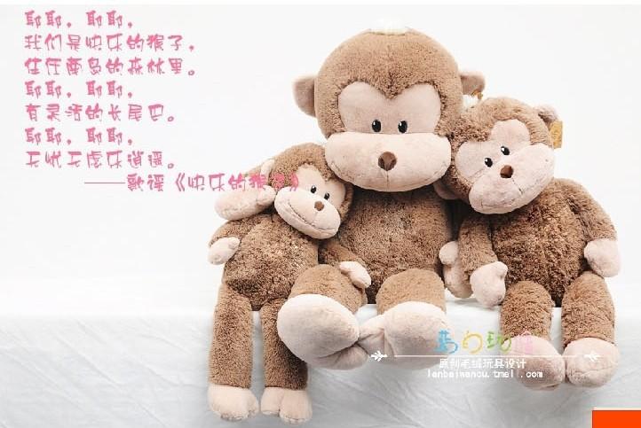 Captain Morgan cute orangutan plush toy soft pillow doll gray orangutan monkey toy gift about 130cm(China (Mainland))
