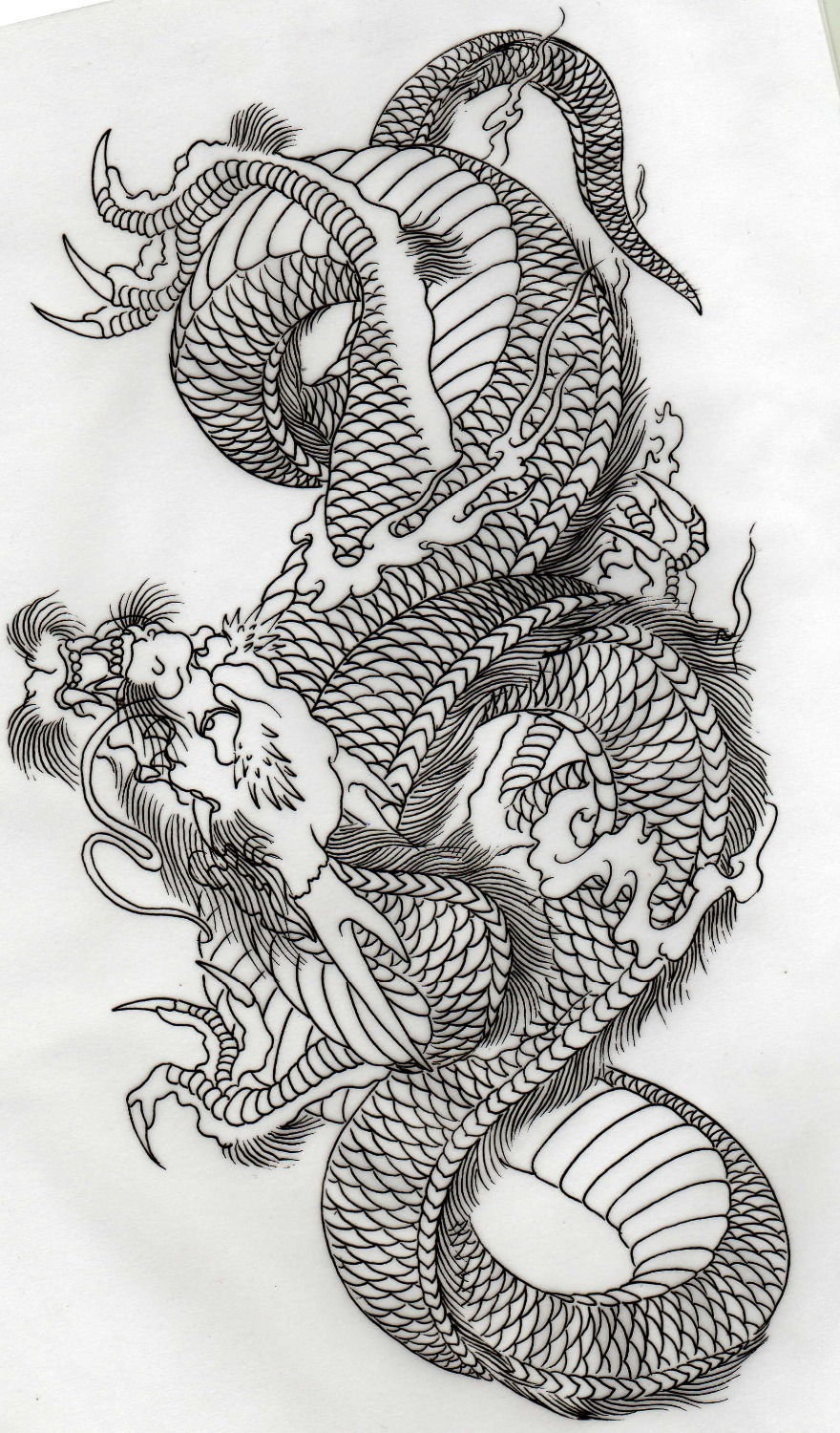 Pin dragon mask outline on pinterest for Dragon tattoo book