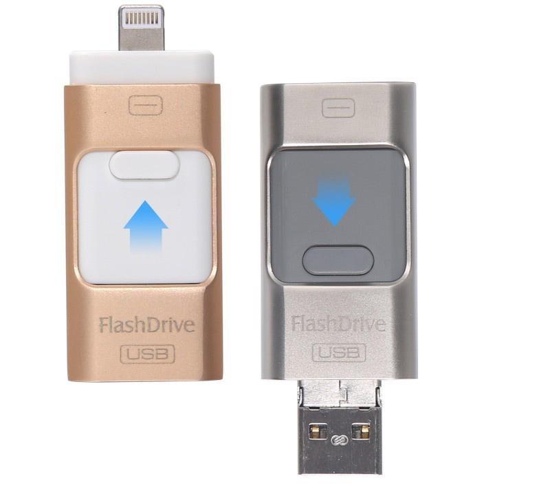 3in1 Mini Usb Metal Pen Drive /OtgUsb Flash Drive For iPhone 5/5s/5c/6/6 Plus/ipad i-Flashdrive 8gb 16gb 32gb 64gb 128GB(China (Mainland))