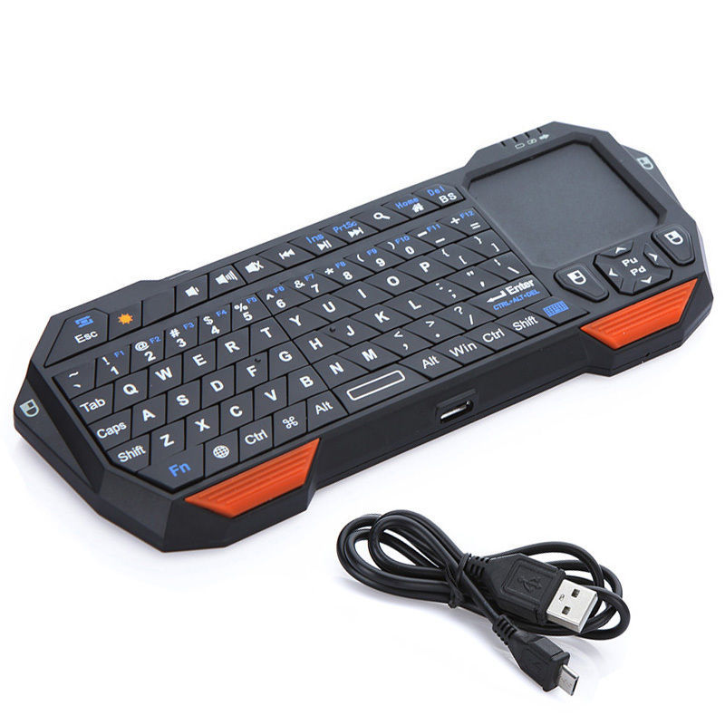 Portable Mini Bluetooth Keyboard w/Touchpad Wireless Gaming Keyboard for Laptop/Smartphones Computer Laptop TV BOX Tablet PC(Hong Kong)