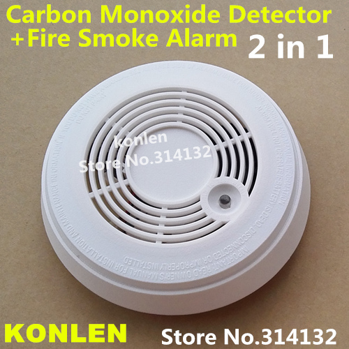 Co Carbon Monoxide Detector And Fire Smoke Alarm Combination 2 In 1 In Sensors Alarms From