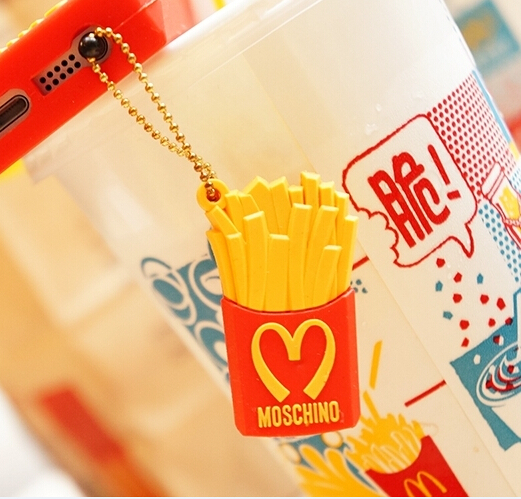 $15 Silicone Mcdonald's Fries Anti Dust Plug Cell Phone cute 3.5mm Chips Ear Jack Headphone Cap  -  China Famous brand discount store store