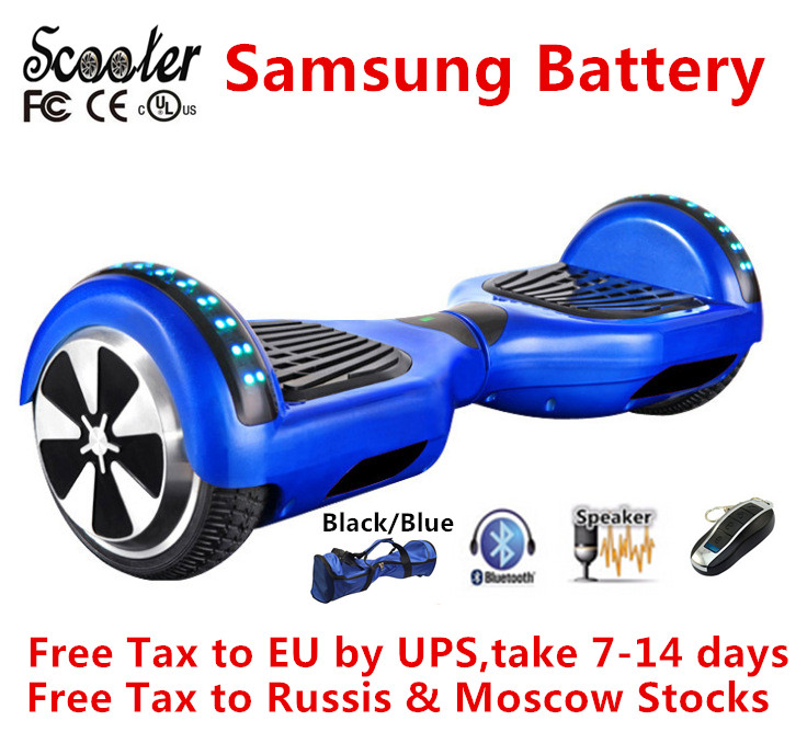 Electric Scooters Hoverboard Bluetooth skateboard Self balancing Scooter Samsung Battery 2 Wheel Smart balance Hover board(China (Mainland))
