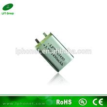5Pcs china 3.7v 1450man li-ion mobile phone /GPS battery with price 883450(China (Mainland))