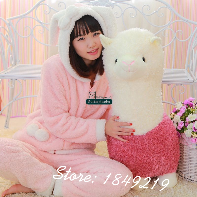 Dorimytrader 31'' / 80cm Cartoon Sheep Toy Giant Stuffed Soft Plush Animal Alpaca Doll 4 Colors Nice Gift Free Shipping DY61154(China (Mainland))