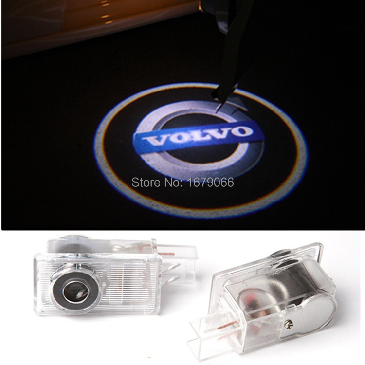 Volvo Logo Custom Courtesy Light Specified Car LED Door Ground Projecting Mark Lamp For XC90 S60 C70 V60 V50 V40 XC60 S60L S80L(China (Mainland))