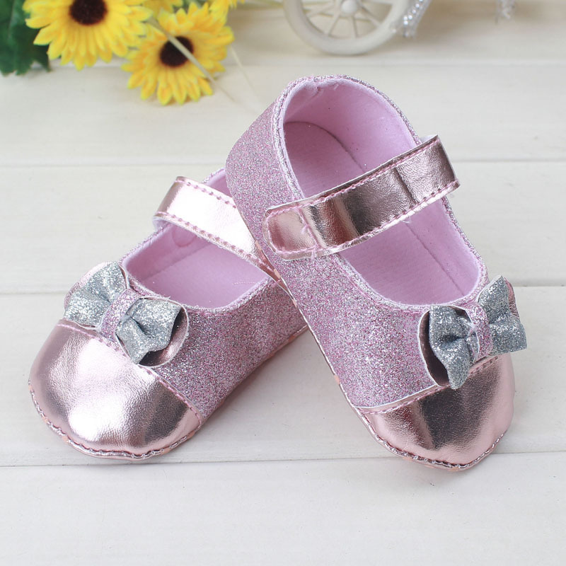 2015 Kids Girls Bow Shoes Baby Girl Princess Soft Bottom Shoes Girl bowknot anti-slip Shoes childrens first walker shoes<br><br>Aliexpress
