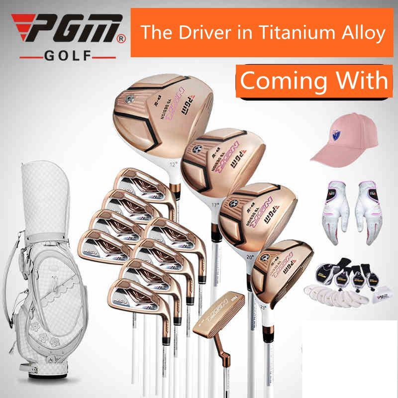 brand PGM Collections. Titanium Alloy for Rod of Driver, women golf clubs, women golf set, golf complete set of carbon shaft(China (Mainland))