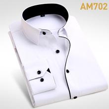2016 Brand New Men Shirt Male Dress Shirts Men's Fashion Casual Long Sleeve Business Formal Shirt camisa social masculina(China (Mainland))