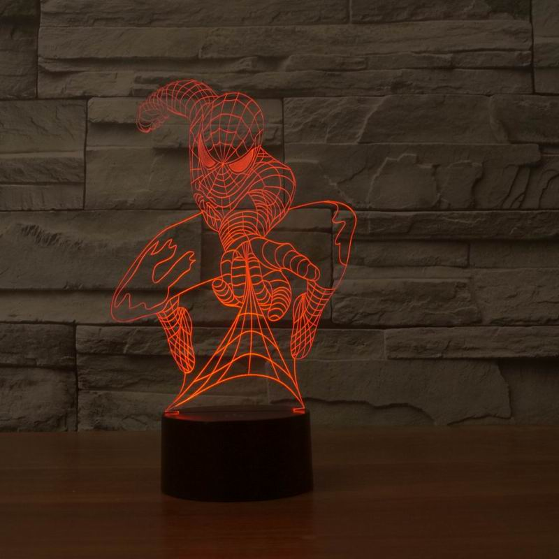 Free Shipping Handsome and Cool  Spiderman 3D Table Lamp Micro USB  Night Light for Holiday Gifts.<br><br>Aliexpress