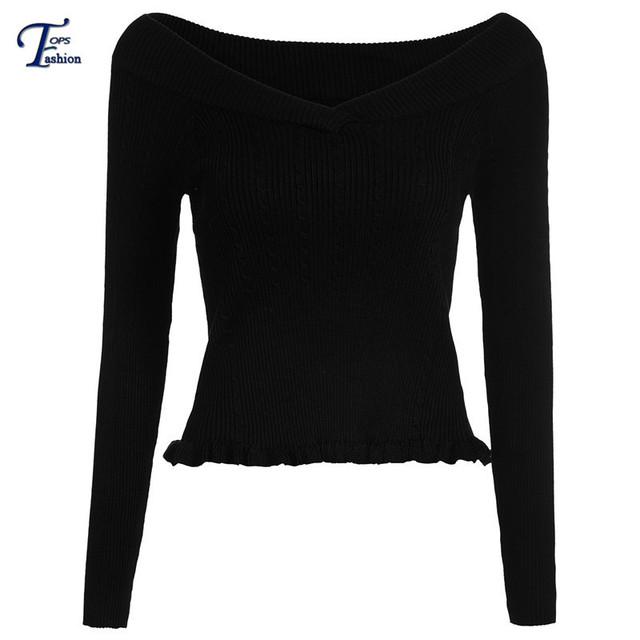 Женщины попадают мода пуловеры горячая распродажа моде перемычки дизайнер новые черный ...