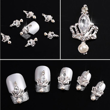 10pcs 3D  Crown   Crystal Rhinestone Alloy Nail Art Stickers Glitters DIY Decorations   Chic Design 5GOP