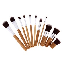 Buy 11 pcs Professional Make Tools Wood Handle Makeup Cosmetic Eyeshadow Foundation Concealer Brush Set Kit Pincel Maquiagem for $6.92 in AliExpress store