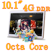 10.1 inch 8 core Octa Cores 2560X1600 IPS DDR 4GB ram 16GB 8.0MP 3G Dual sim card Wcdma+GSM Tablet PC Tablets PCS Android4.4 7 9