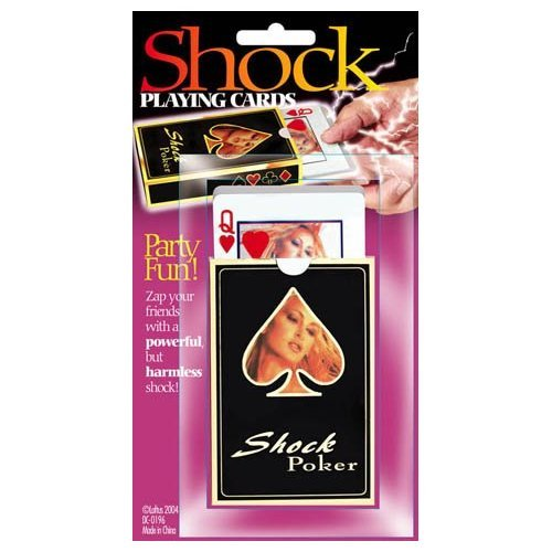 Novelties Electrical Shock Playing Cards Game Gag Set toys Practical Jokes Party Funny toys Props(China (Mainland))