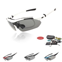 Profissional Polarized óculos ciclismo bicicleta Casual óculos Outdoor Sports óculos de bicicleta UV 400 com 5 Lens TR90 5 cores