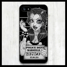 Punk Princess Belle Mug Shot hard plastic Case cover for iphone 4 4s 5 5s 5c 6 plus 6s Samsung Galaxy S3/4/5/6(China (Mainland))