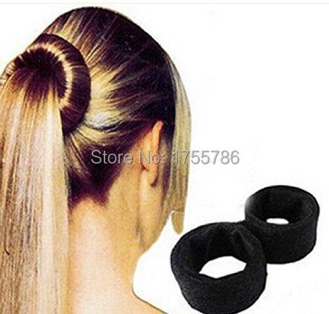 Noir classique français cheveux rouleau spirale Bun Updo Fold Wrap aligner  cheveux Maker Braid queue de