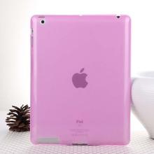 Горячая распродажа мода желе цвет прозрачный кремния задняя крышка крышка для iPad 2 iPad 3 iPad 4 удобные мягкие оболочки чехол для iPad 2 / 3 / 4