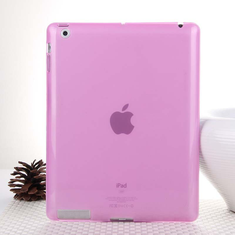 Hot Sale Fashion Jelly Color Transparent Silicon Back Cover for iPad 2 iPad 3 iPad 4 Comfortable Soft Gel Case for iPad 2 3 4(China (Mainland))