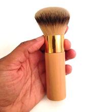 New Arrivals 1 pcs the buffer airbrush finish bamboo foundation powder contour makeup brushes #84121(China (Mainland))
