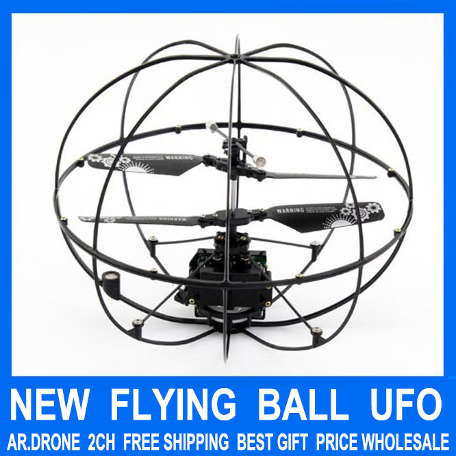 Free Shipping New Arriival ! 2 Channel With Gyro RC Remote Radio Control Frlying Fly Ball Helicopter UFO Radio Quad copter Drone(China (Mainland))