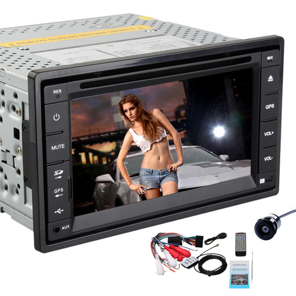 USA STOCK!Rear Camera+6.2'' HD double 2 din Car Radio Audio GPS Navigation Car Stereo DVD CD Video Player iPod Bluetooth MP3 PC(China (Mainland))