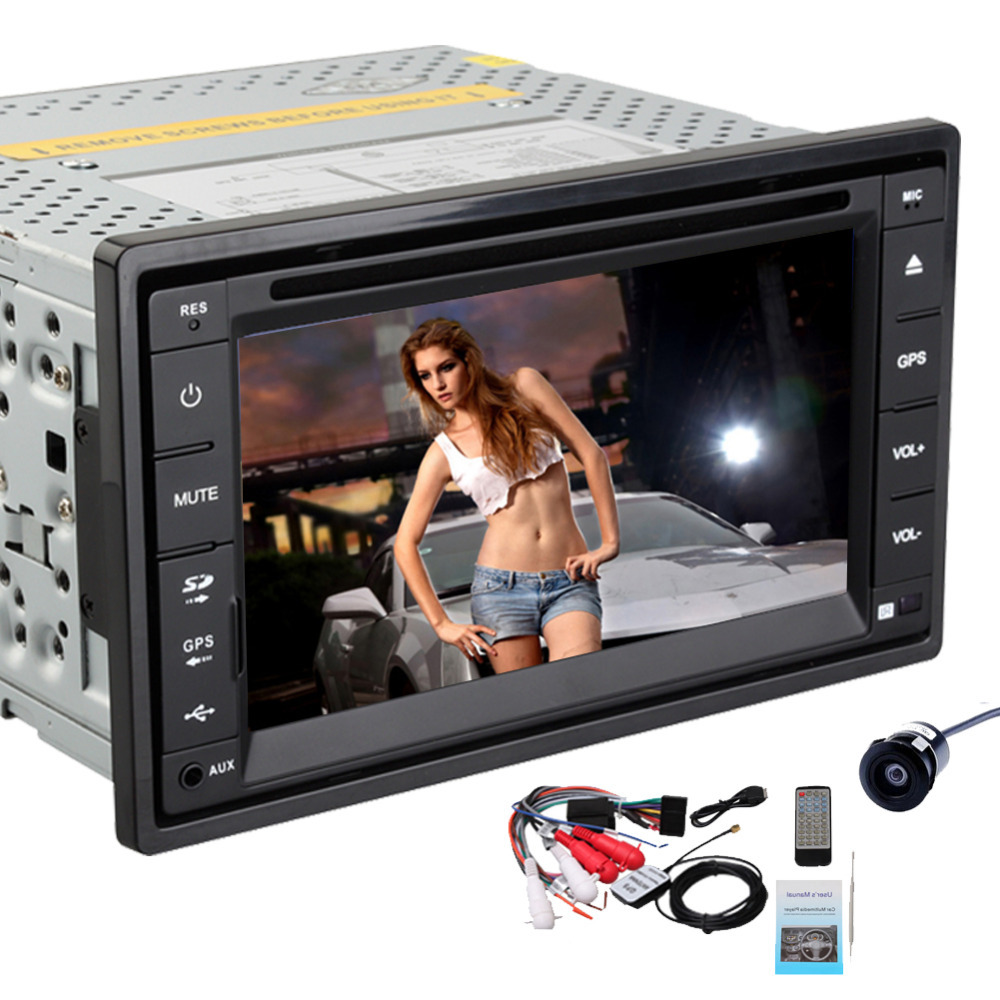 USA STOCK!Rear Camera+ 6.2'' double 2 din Car Radio stereo GPS Navigation Car DVD CD Video Player ipod RDS BT Car audio+USB/SD(China (Mainland))
